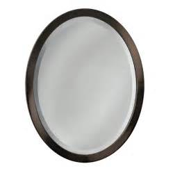 oval mirrors bathroom shop allen roth 29 in h x 23 in w rubbed bronze oval