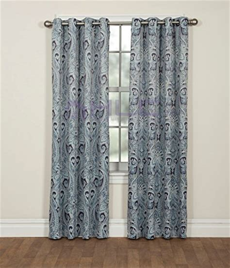 curtains 50 inches long hlc me paris paisley damask thermal blackout grommet