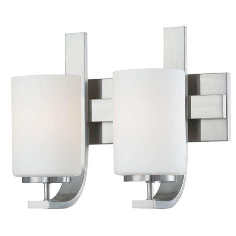 Home Depot Bathroom Light Fixtures Lighting Pendenza 2 Light Brushed Nickel Bath Fixture Tv0007217 The Home Depot
