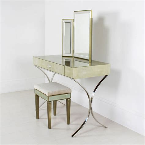Glass Vanity Table Shagreen Glass Dressing Table By Out There Interiors Notonthehighstreet