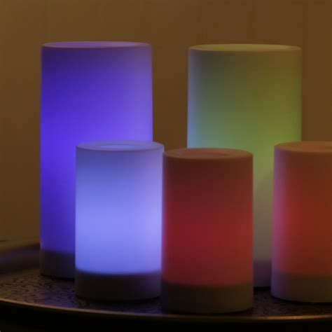 color changing candles color changing outdoor led pillar candle world market