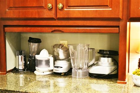 i really could use a kitchen appliance garage or two appliance garage turned coffee station at the picket fence