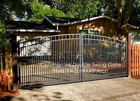 driveway swing gates aluminum gate arch greatfence com