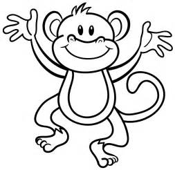 monkey coloring pages colouring monkey clipart best