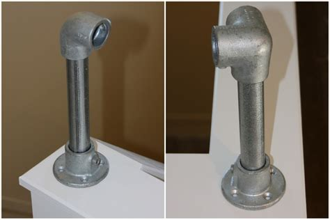 fitting banisters interior industrial pipe handrail