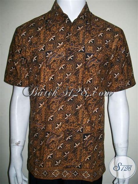 Koleksi Terbaru Kemeja Coklat Sw Kemeja Pria Katun Stretch 1 kemeja batik laki laki lengan pendek warna coklat untuk