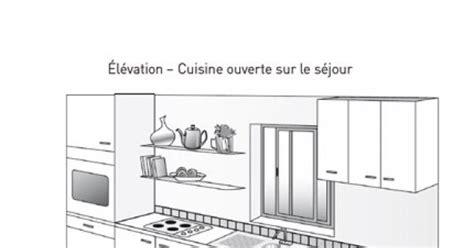 plan cuisine en l avec ilot plan de cuisine