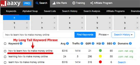 Make Money Online Keywords - how to learn how to make money online problem solved