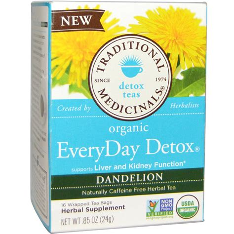 Detox Tea For by Traditional Medicinals Organic Everyday Detox Tea