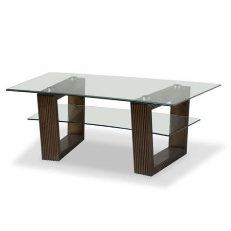 Magnussen Cordoba Rectangular Glass Top Cocktail Table In Magnussen Coffee Table