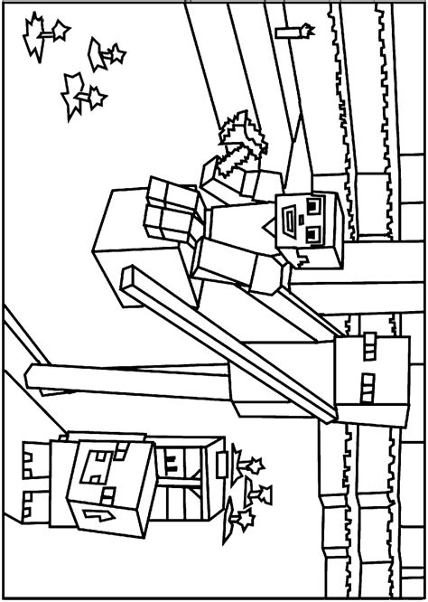 Minecraft Guardian Coloring Pages | minecraft guardian coloring sheets coloring pages
