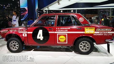 datsun 1600 rally 2016 auto expo datsun showcases the bluebird 1600sss and