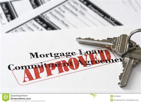 house loan approval real estate mortgage approved loan document stock photos image 25796993