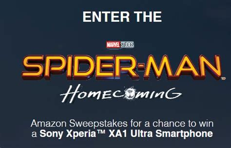 Canadian Sweepstakes - spider man homecoming amazon sweepstakes canadian contests net