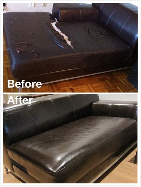 leather couch cushion repair how to repair a leather sofa cushion