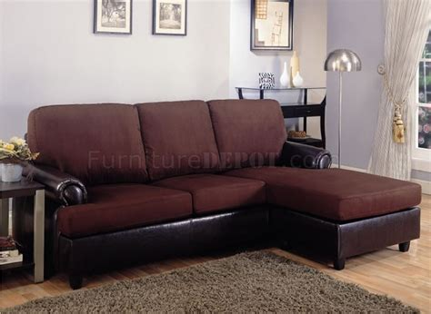 brown microfiber sectional couch dark brown microfiber modern small sectional sofa w vinyl base
