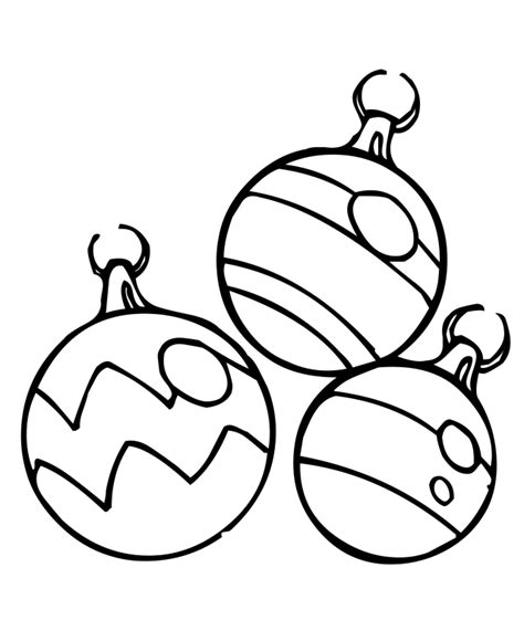Free Christmas Ornament Coloring Pages Coloring Home Ornaments Color Pages