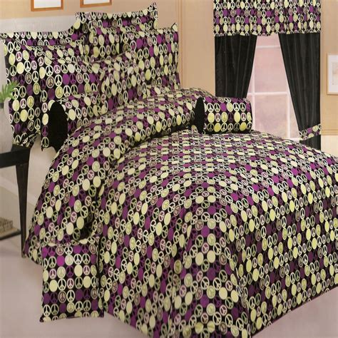 peace comforter peace sign comforter shams set 4 color options new ebay