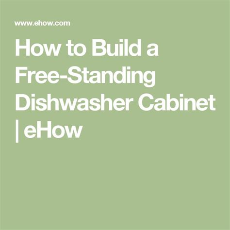 free standing dishwasher cabinet 1000 ideas about dishwasher cabinet on