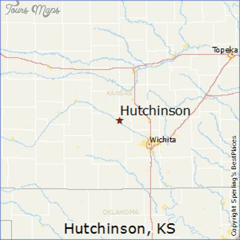 Hutchins Kansas Map Of Hutchinson Kansas Toursmaps