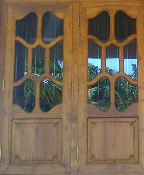 Wood Panel Windows Designs Kerala Model Wooden Window Door Designs Wood Design Ideas