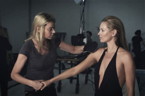 Forget Powder Kate Moss Turns To Wax by Kate Moss Poses For St Tropez