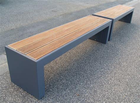 panchine pubbliche banc de jardin modulable en acier et bois steelab by image