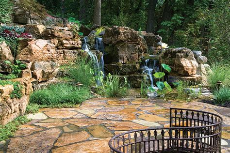 Pictures Of Backyard Waterfalls And Streams by Creating Realistic Backyard Streams And Waterfalls