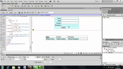 Dreamweaver Tutorial With Php | adobe dreamweaver cs6 conex 227 o com php mysql mp4 youtube