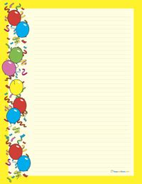 birthday stationery templates free printable birthday stationary get domain pictures