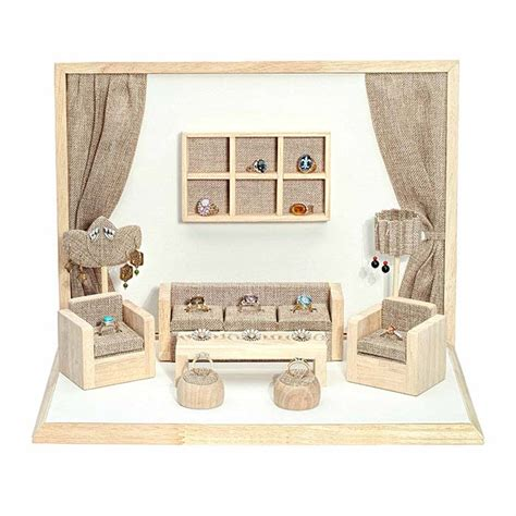 Showcase Furniture For Living Room Burlap Mini Living Room Furniture Showcase Display