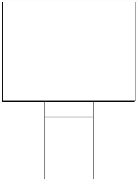 yard sign design template blank templates struckndesign