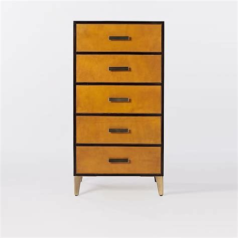 Single Drawer Dresser by Atelier Leather Wrapped 5 Drawer Dresser Single Panel