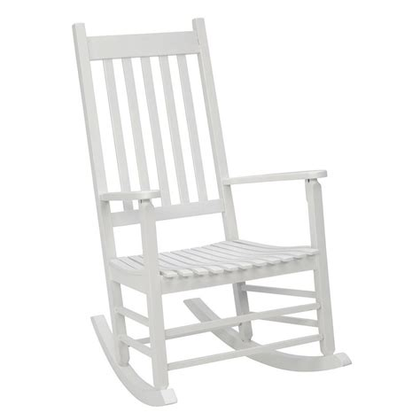 white outdoor rocking chair home depot post white mission patio rocker 08100877 the home depot