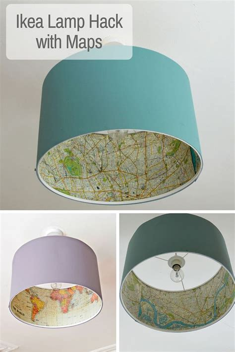 Decoupage Light Shade - the best ikea l hack rismon map lshade ls