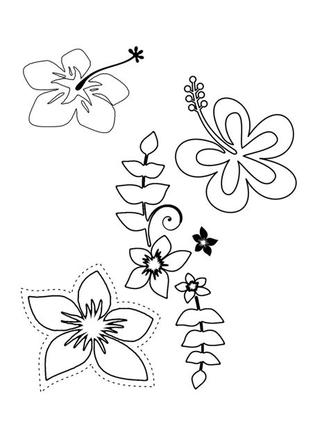 luau flower coloring page hawaii coloring pages to print to print click the image