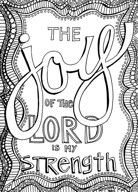 bible coloring pages joy the joy of the lord sunday doodle from victory road