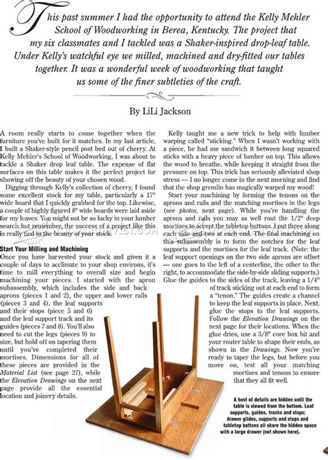 drop leaf table construction drop leaf table plans woodarchivist