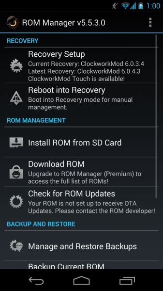 rom manager pro apk rom manager 5 5 3 0 apk for android now