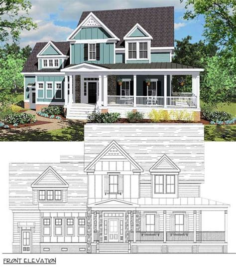 bungalow coastal cottage country farmhouse traditional house plan 30501 1000 ideas about house plans on traditional house plans house plans and
