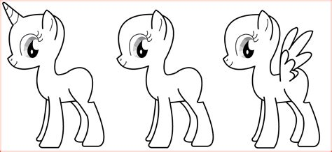 mlp template my pony template proposalsheet