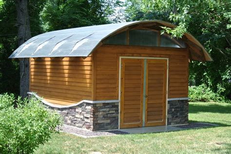 Curved Roof Shed by Lamella Shed Thewes Nashville Modern Architect