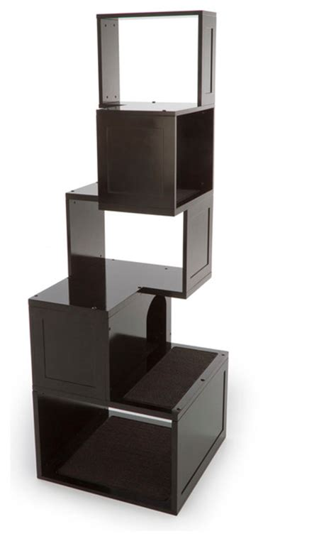the sebastian modern cat tree black modern cat