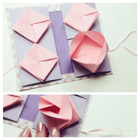 Origami Book With Paper - origami thread book tutorial paper kawaii