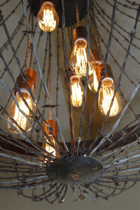 Wire Chandeliers Ironglass Lighting Barbed Wire Chandelier