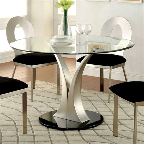 dining room designs elegant modern style round table elegant contemporary glass top round dining table with v