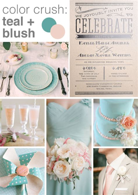 ruby wedding inspiration mint green teal and gold wedding color inspiration blush and teal
