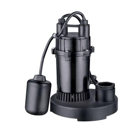 sump pumps shop utilitech 0 33 hp aluminum submersible sump at lowes