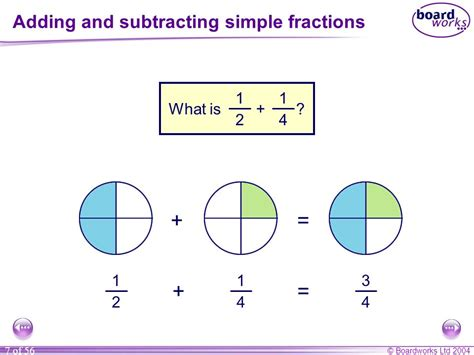 diagram to add fractions n6 calculating with fractions ppt