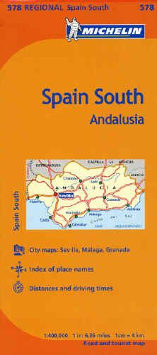andalusia regional map 578 2067184458 the savvy traveller michelin spain and portugal maps guides and atlases